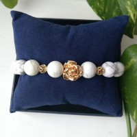 Cajolong bracelet with gold plated inserts